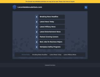 lecomtedebouderbala.com screenshot