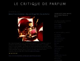lecritiquedeparfum.blogspot.fr screenshot