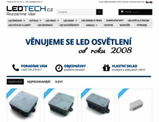 led-tech.cz screenshot