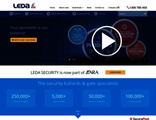 ledasecurity.com.au screenshot