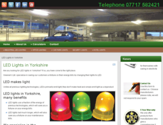 ledlightsyorkshire.co.uk screenshot
