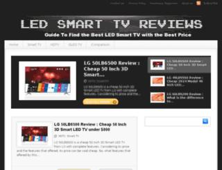 ledsmarttvreviews.com screenshot
