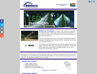 ledstreetlight.co.za screenshot
