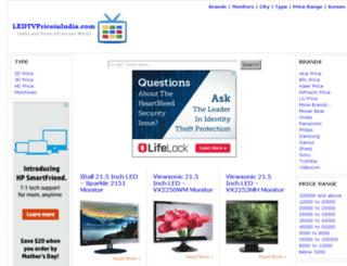 ledtvpriceinindia.com screenshot