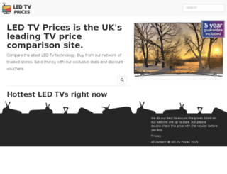 ledtvprices.com screenshot