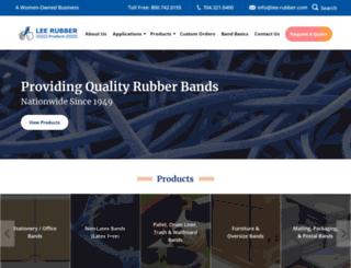 lee-rubber.com screenshot