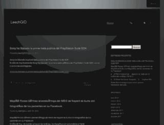 leechgid.wordpress.com screenshot