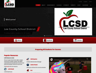 leecountyschools.us screenshot