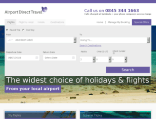 leedsbradford.airportdirecttravel.co.uk screenshot