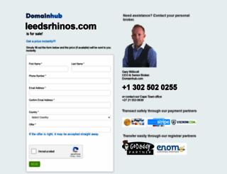 leedsrhinos.com screenshot
