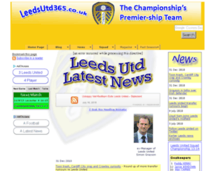 leedsutd365.co.uk screenshot