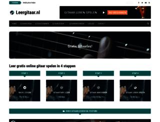 leergitaar.nl screenshot