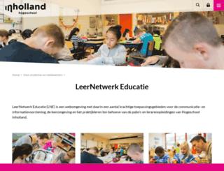 leernetwerkeducatie.nl screenshot