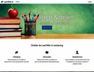 leerwiki.nl screenshot