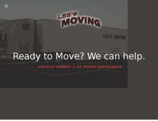 leesmovingca.com screenshot