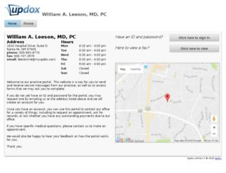 leesonmd.myupdox.com screenshot