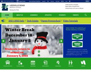 leesvillems.wcpss.net screenshot