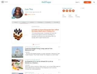 leetea.hubpages.com screenshot