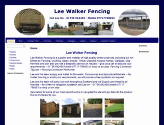 leewalkerfencing.co.uk screenshot