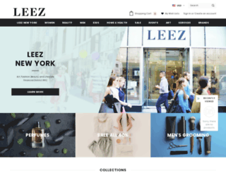 leez.myshopify.com screenshot