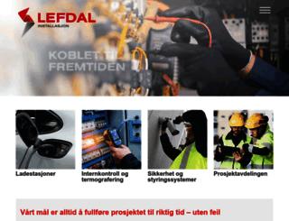 lefdal.no screenshot