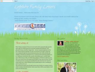 lefebvrefamilyletters.blogspot.com screenshot