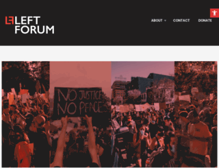 leftforum.org screenshot