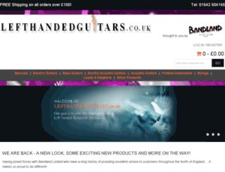 lefthandedguitars.co.uk screenshot
