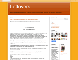 leftoversanyone.blogspot.com screenshot