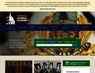 leg.state.vt.us screenshot
