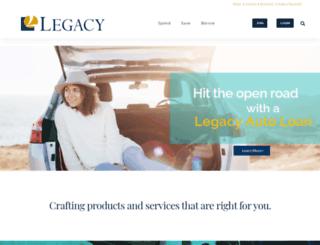 legacycreditunion.com screenshot