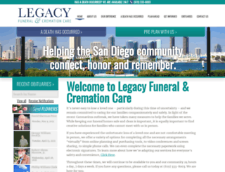 legacyfuneralcare.com screenshot