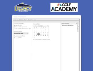 legacygolfperformancecenter.uschedule.com screenshot