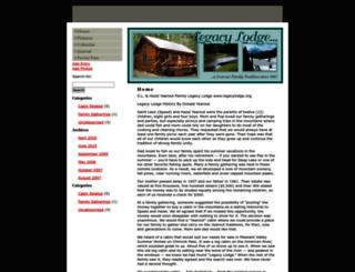 legacylodge.org screenshot