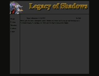 legacyofshadow.de screenshot