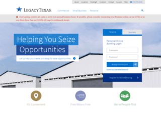legacytexas.com screenshot