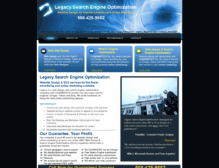 legacywebsitedesign.com screenshot