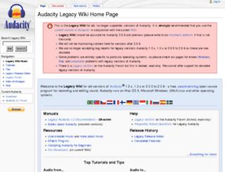 legacywiki.audacityteam.org screenshot