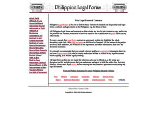 legal-forms.philsite.net screenshot