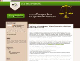 legal-transcription-service.blogspot.com screenshot