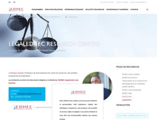 legal.edhec.com screenshot