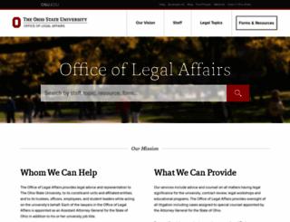 legal.osu.edu screenshot