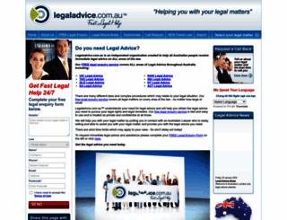 legaladvice.com.au screenshot