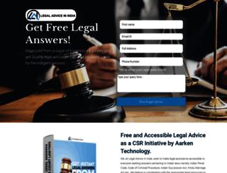 legaladviceinindia.com screenshot