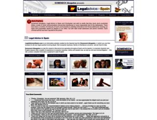 legaladviceinspain.com screenshot