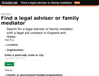 legaladviserfinder.justice.gov.uk screenshot
