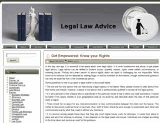 legalawadvice.com screenshot