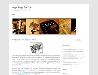legalblogs4u.wordpress.com screenshot