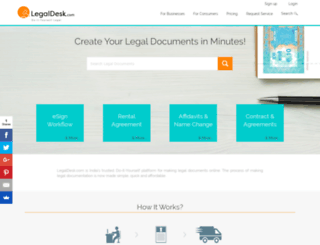 legaldesk.in screenshot