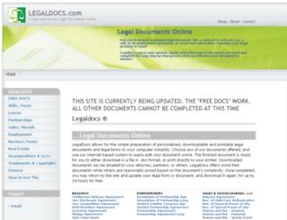 legaldocs.com screenshot